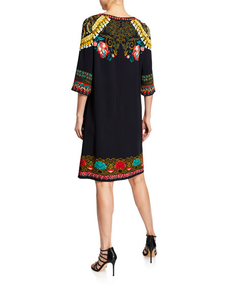 Etro Tower Floral Cady Cocktail Dress