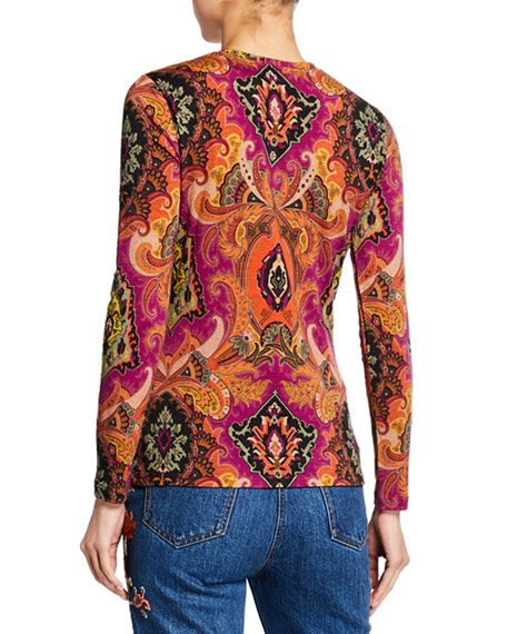 Etro Neo Nomad Jersey Long-Sleeve Top