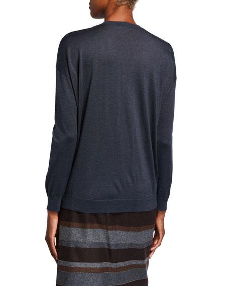 Brunello Cucinelli Cashmere Silk Monili-Beaded Sweater