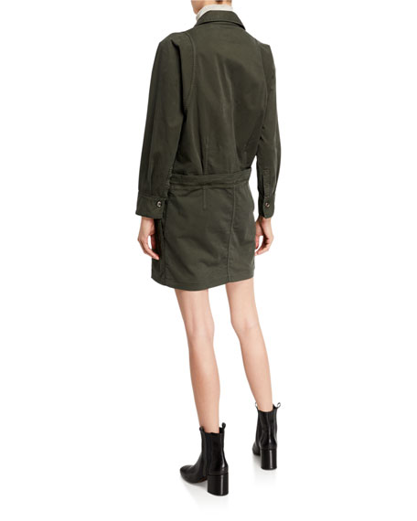 Brunello Cucinelli Cotton Zip-Front Shirtdress