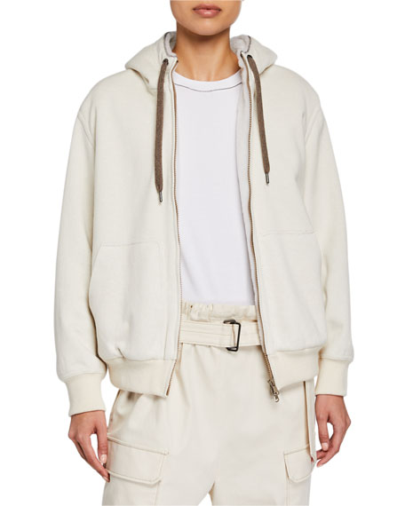 Brunello Cucinelli Cashmere-Blend Fleece Lined Sweater