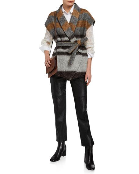 Brunello Cucinelli Straight-Leg Napa Leather Trousers