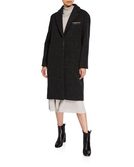 Brunello Cucinelli Monili Trim Cashmere Wool Overcoat