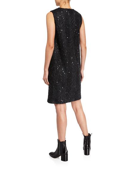 Brunello Cucinelli Sleeveless Sequined Check Dress