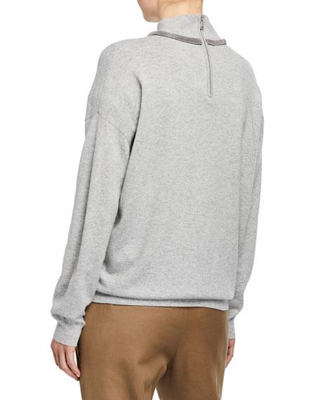Brunello Cucinelli Cashmere Monili-Collared Sweater