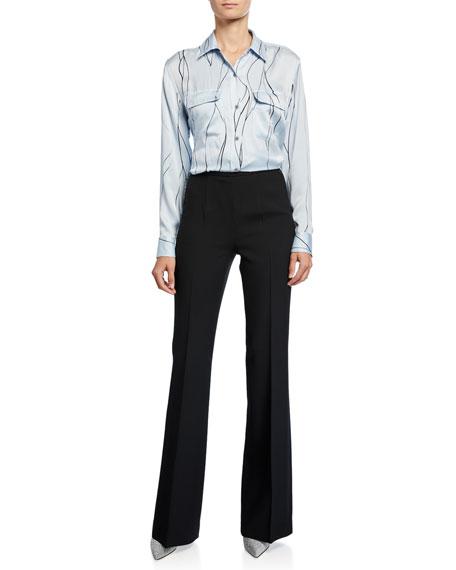 Michael Kors Collection Sable Flare-Leg Pants