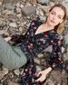 Michael Kors Collection Stemmed Floral Crepe de Chine Wrap-Top