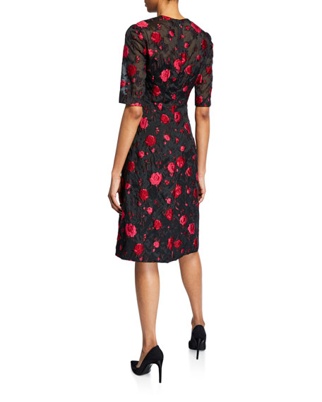 Image 2 of 2: Holly Rose Fil Coupe Elbow-Sleeve Dress