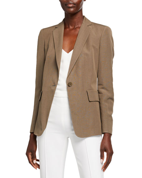 Akris punto Long One-Button Blazer Jacket