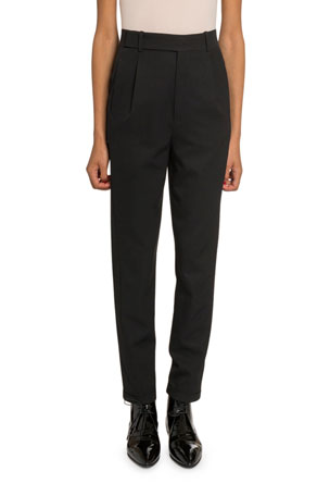 Saint Laurent Slim Leg Wool Trousers