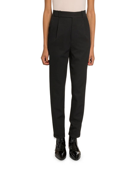Saint Laurent Slim Leg Wool Trousers
