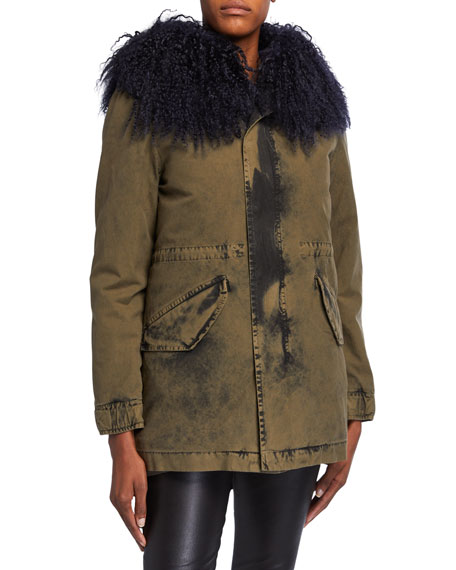 Mr&Mrs Italy New York Midi Washed-Canvas Puffer Coat