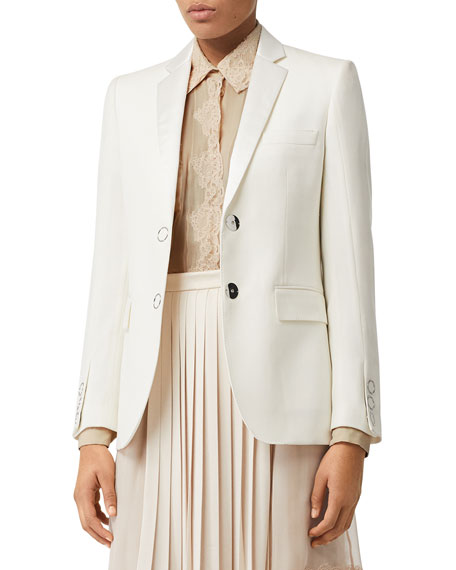 Burberry Tailored Wool Snap-Front Tux Jacket