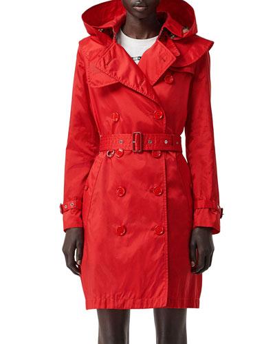 Kensington Nylon Hooded Trench Coat