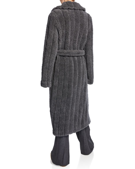 Gabriela Hearst Pavlovna Fluffy-Knit Quilted Robe Coat
