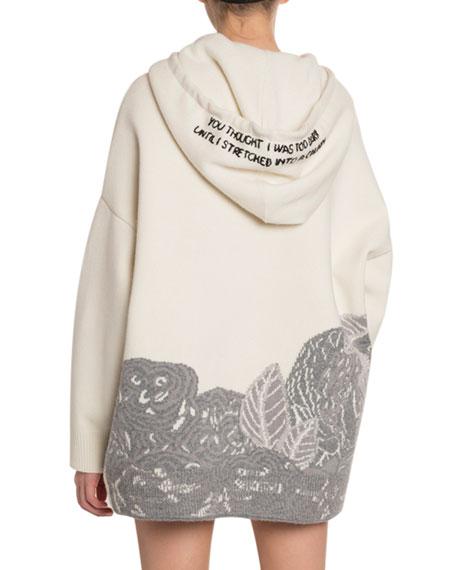 Valentino Lovers Jacquard Oversized Sweatshirt