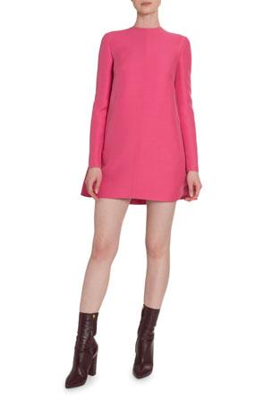 Valentino Crepe Couture Draped-Back Shift Dress