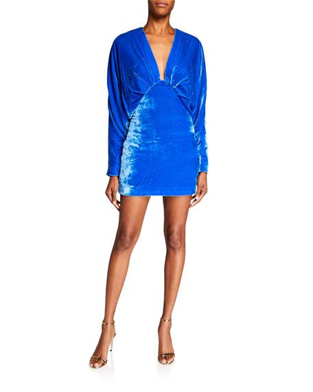 CUSHNIE Velvet Mini Dress