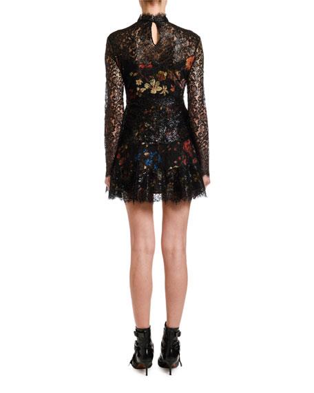 Etro Metallic Lace Overlay Dress