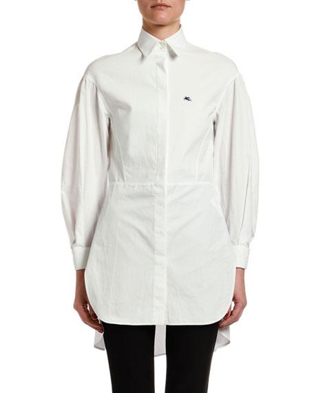 Etro Seamed-Waist Cotton Tunic