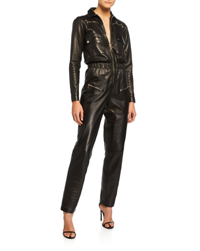 Nakita Leather Utility Pocket Jumpsuit