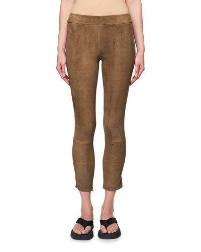 Mino Cropped Suede Pants