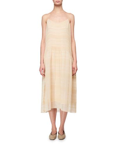 Tanya Plisse Slip Dress