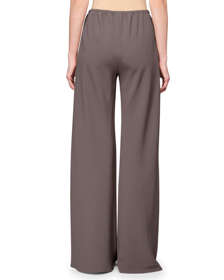THE ROW Gala Wide-Leg Jersey Pants