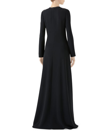 Gucci Star-Embroidered Jersey Gown