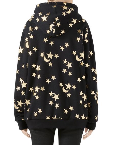 Gucci Star-Print Heavy Jersey Sweatshirt with Logo