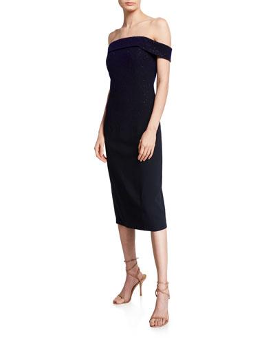 Lucille Off-the-Shoulder Degrade Dress