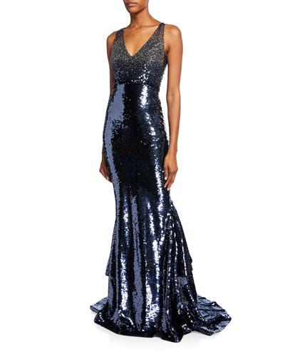 Alannah Beaded Mermaid Gown