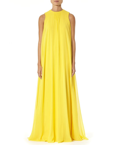 Silk Overlay Column Gown