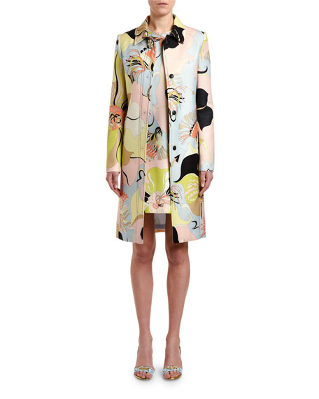 Emilio Pucci Mirabilis Floral-Print Coat