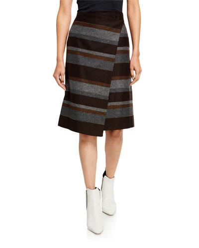 Blanket-Striped Skirt