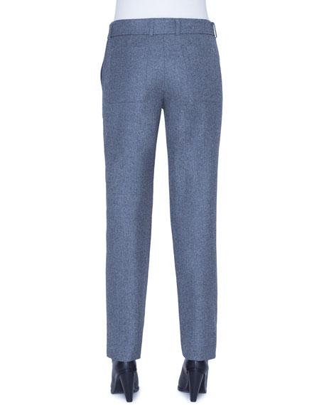 Akris punto Fallon Wool Belted Chino Pants