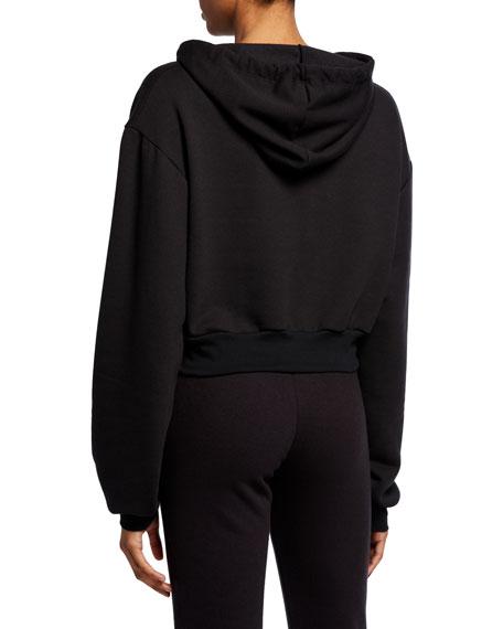 Rodarte Cropped Radarte Hoodie Sweatshirt