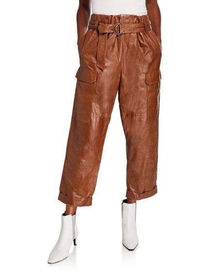 Brunello Cucinelli Leather Cargo Pants