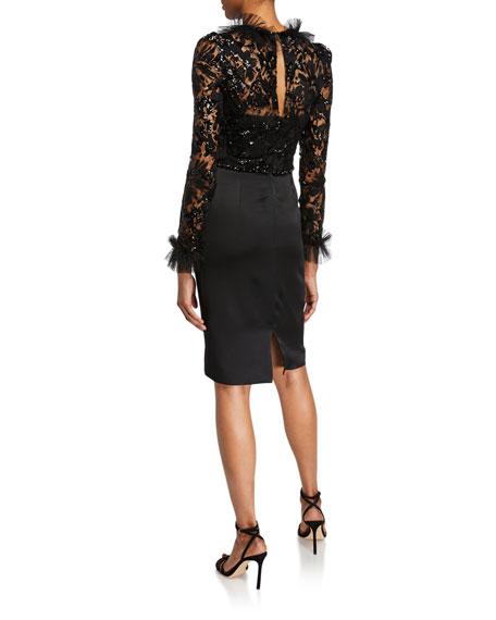 Jenny Packham Solene Collared Dress