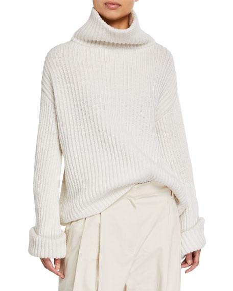 Brunello Cucinelli Cashmere Jewel-Cuffed  Turtleneck Sweater