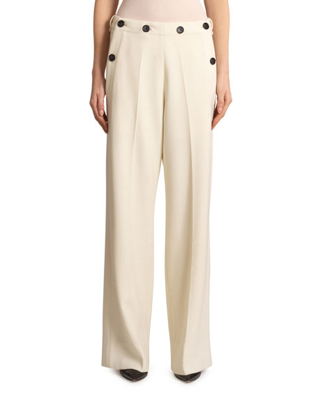 Roland Mouret Palmetto Wool-Crepe Trousers