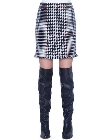 Akris punto Glen-Checked Mini Skirt