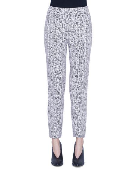 Akris punto Franca Leopard Print Pants