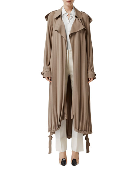 Burberry Heavy Draped Wrap Coat