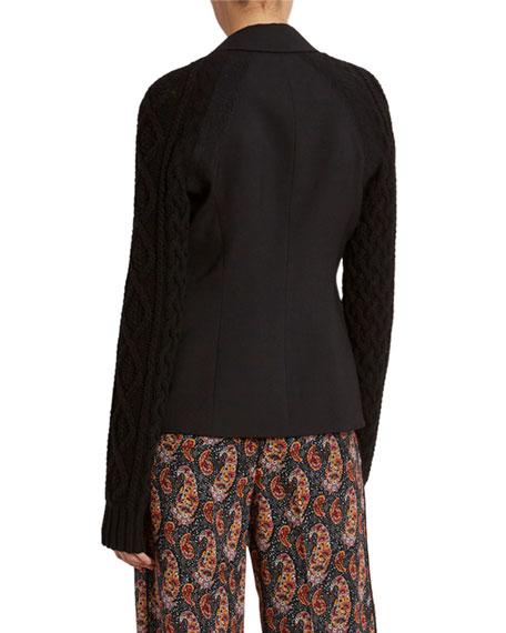 Altuzarra Stretch Wool Knit Blazer