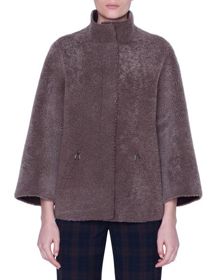 Akris Curly Lambskin Reversible Jacket