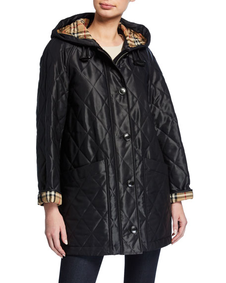 Burberry Lightweight Diamond-Quilted Parka