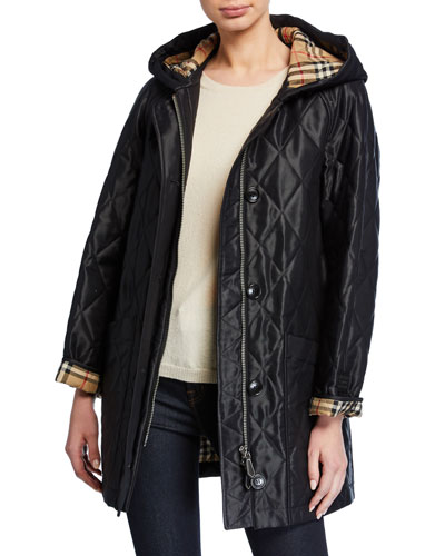 Lightweight Diamond-Quilted Parka