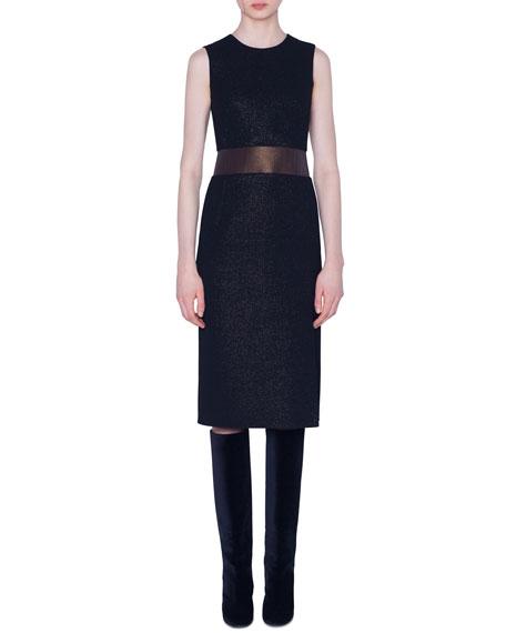 Akris Wool Crepe Sleeveless Dress