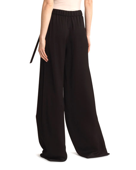 Image 2 of 3: Roland Mouret Aperol Honeycomb Viscose Trousers